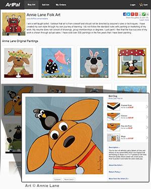 Screenshot of sample ArtPal gallery